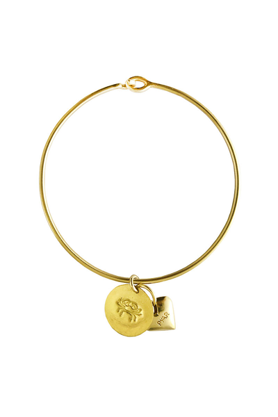 Pyar Zodiac Heart Bangle in Cancer