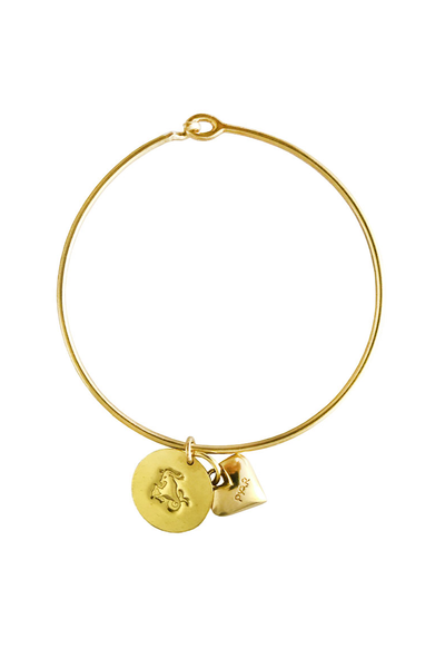 Pyar Zodiac Heart Bangle in Capricorn