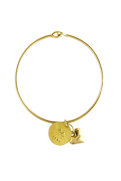 Pyar Zodiac Heart Bangle in Gemini