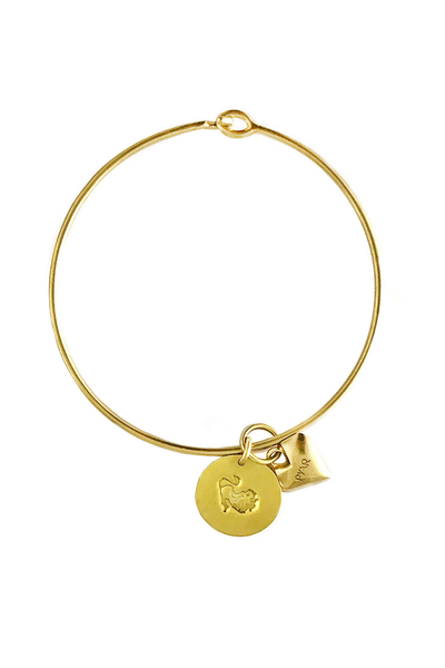 Pyar Zodiac Heart Bangle in Leo