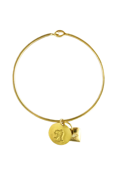 Pyar Zodiac Heart Bangle in Libra
