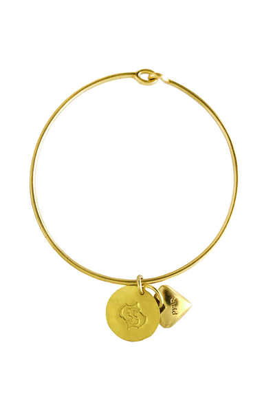 Pyar Zodiac Heart Bangle in Pisces