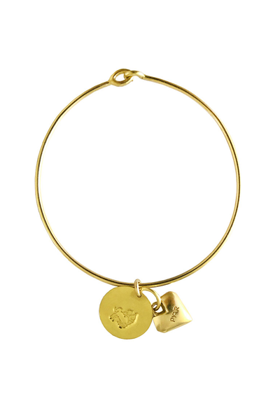 Pyar Zodiac Heart Bangle in Sagittarius