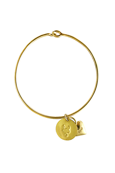 Pyar Zodiac Heart Bangle in Scorpio