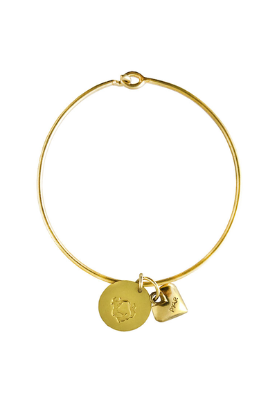 Pyar Zodiac Heart Bangle in Taurus