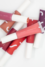 Vegan and cruelty free liquid lipsticks by Solos Cosmetics, available on ZERRIN