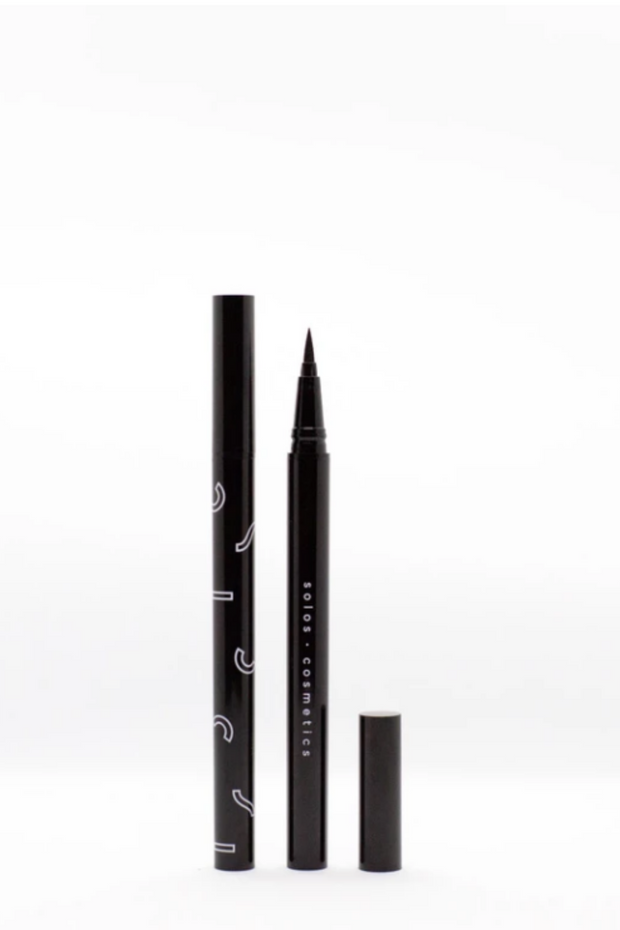 Vegan felt black eyeliner by Solos Cosmetics, available on ZERRIN