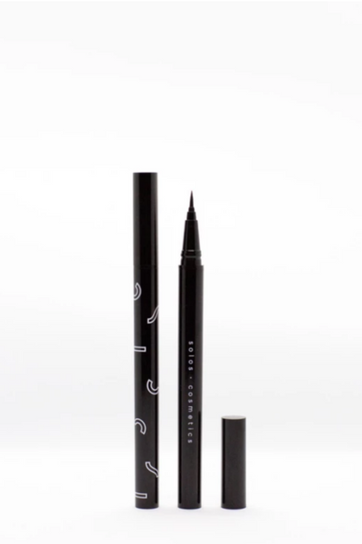Vegan micro black eyeliner by Solos Cosmetics, available on ZERRIN