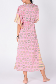 Aanya Hasina Boho Maxi Dress in pink, available on ZERRIN