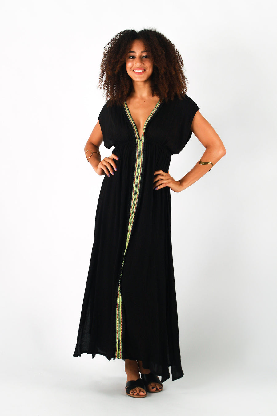 Aanya Black Maxi Dress, available on ZERRIN