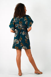 Aanya Hasina Midi Dress in Teal, available on ZERRIN
