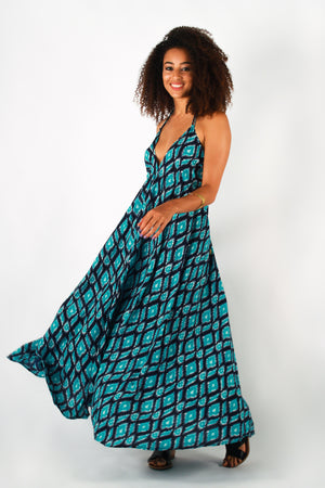 Aanya Ikat Maxi Dress, available on ZERRIN