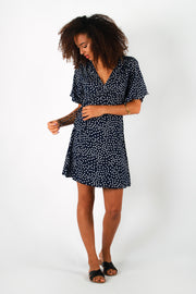 Aanya Lola Polka Dot Wrap Dress, available on ZERRIN