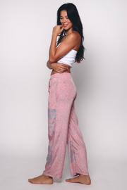 Aanya Straight Lounge Pants in Pink