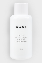 Acai Moringa Coco Cleanser by Want Skincare, available on ZERRIN