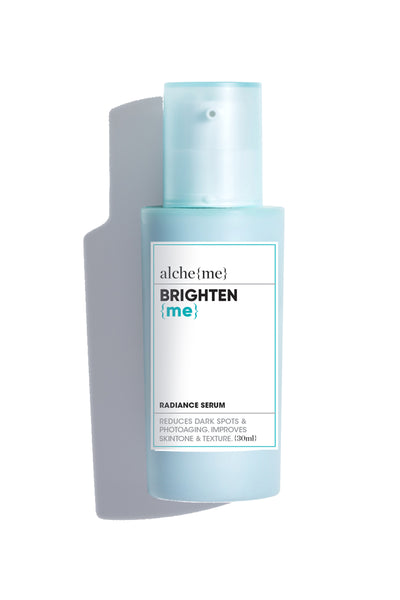 alcheme brighten me radiance serum, available on ZERRIN