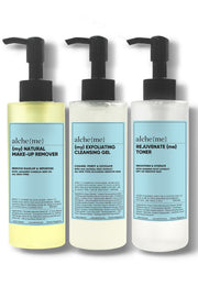 alcheme skincare cleansing set group shot, available on ZERRIN