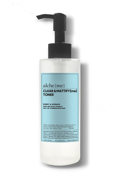 alcheme skincare clear & mattify toner, available on ZERRIN