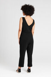 Back view of Dorsu Black Jumpsuit, available on ZERRIN