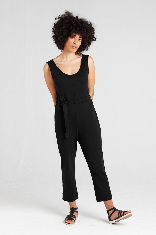 Dorsu Black Jumpsuit, available on ZERRIN