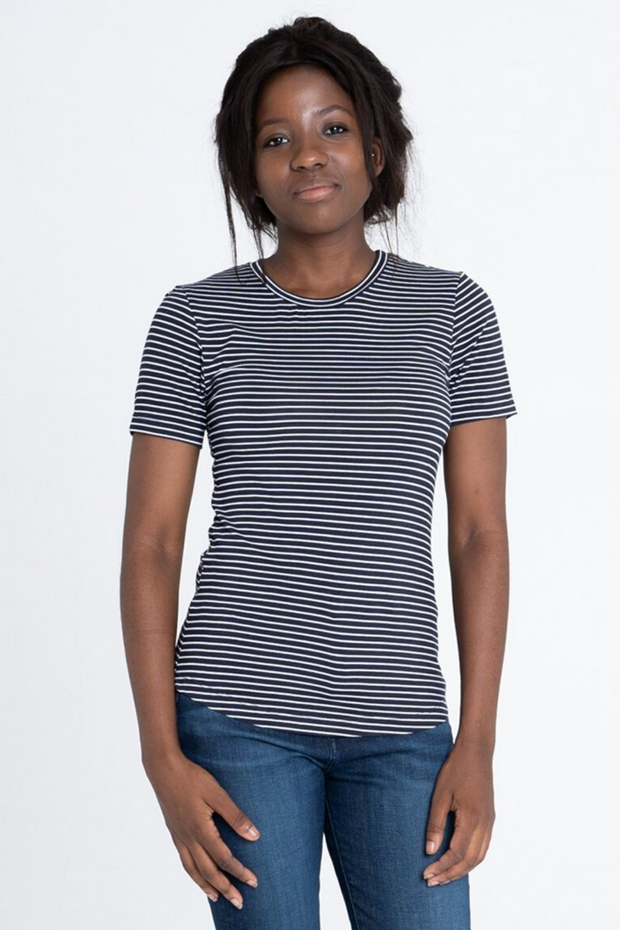 Dorsu Fitted Stripe T-Shirt, available on ZERRIN