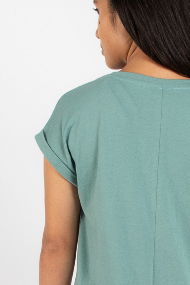 Dorsu Relaxed Crew Tee in Seafoam, available on ZERRIN
