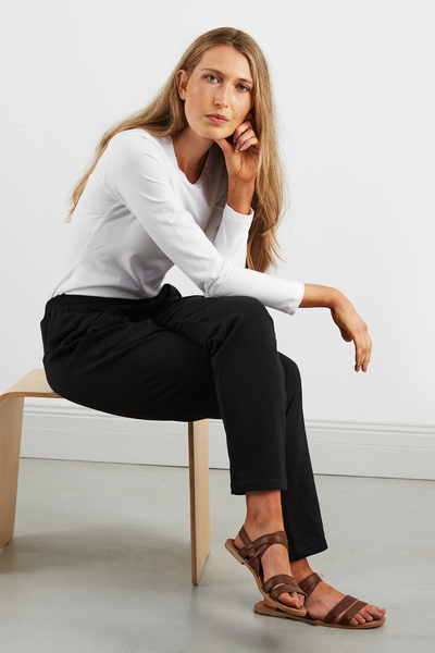 Dorsu Slouch Pant, women's sustainable fashion available on ZERRIN