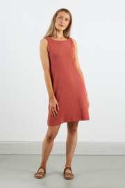 Dorsu Scoop Back Dress in Coral, available on ZERRIN with free Singapore shipping