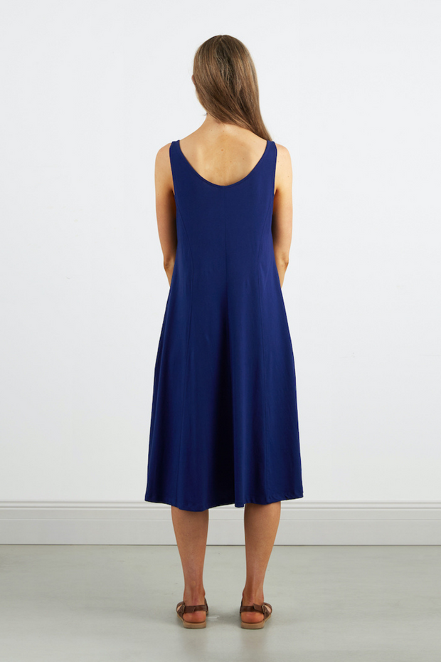 Dorsu Scoop Neck Tank Dress in Sapphire, available on ZERRIN