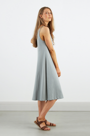 Dorsu Scoop Neck Dress in Sea Salt, available on ZERRIN