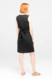 Back view of Dorsu Black Tie Dress, available on ZERRIN