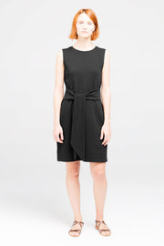 Front view of Dorsu Black Tie Dress, available on ZERRIN