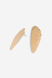 Gold-plated juno hammered earrings by Emi & Eve, available to shop on ZERRIN