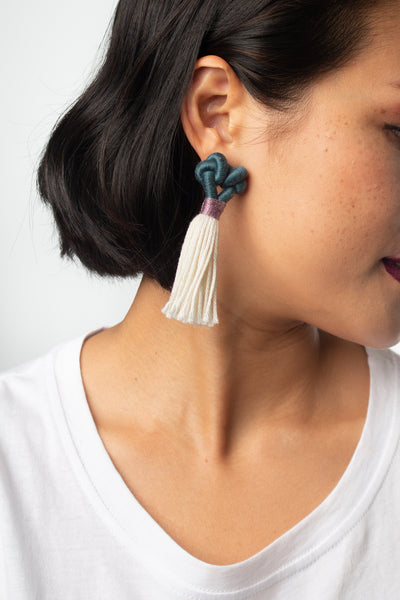 Talee Kupu Earrings in Cove & Lily, handmade jewellery available on ZERRIN