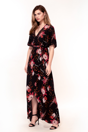 Hide the Label Rosa Maxi Dress in Rust Tulip Print, available on ZERRIN