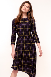 Hide the Label Azalea Dress in Spot Plaid Print, available on ZERRIN