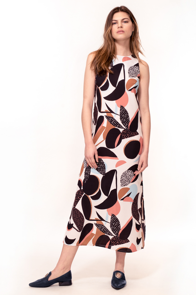 Hide the Label Thaila Midi Dress in Abstract Floral Print, available on ZERRIN