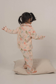 Nost Moki Kids PJ's in Spiral Blush, available on ZERRIN