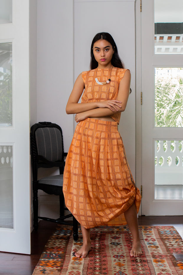 Maisha Concept Chaand Skirt in Orange