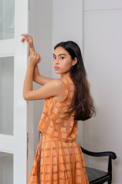 Maisha Concept Badaal Top in Orange