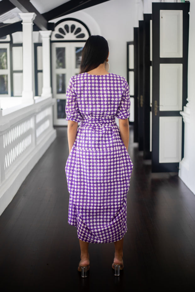 Maisha Concept Zebra Long Sleeved Maxi in Purple