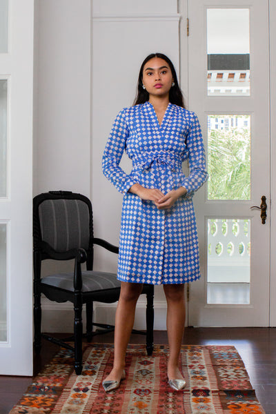 Maisha Concept Taara Shirt Dress in Blue