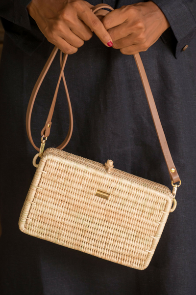 Manava handcrafted Syuti rattan bag, available on ZERRIN