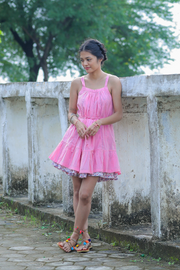Wray Crafted Padmini Reversible Dress in Pink, available on ZERRIN