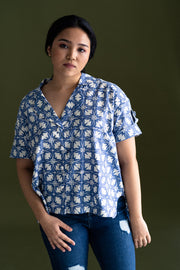 Gypsied Batik Cocoon Shirt in Shanti, available on ZERRIN with free Singapore shipping