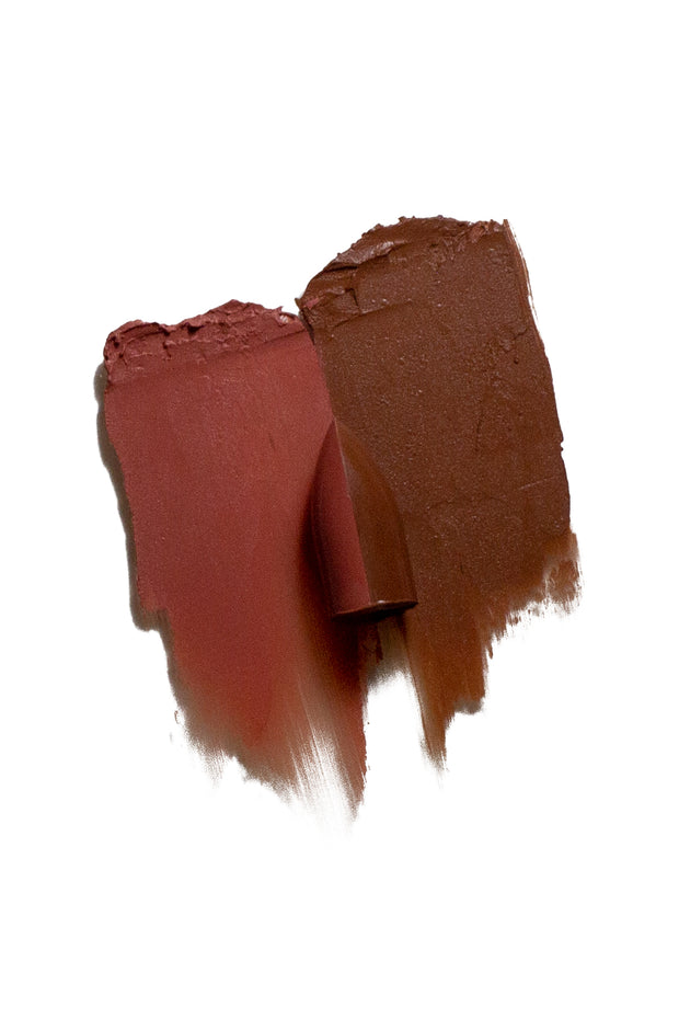 Solos Cosmetics SplitStix Multistick Lip Colour in Cocoa Chocolate x Racey Russet