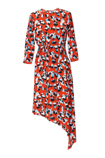 Hide the Label Azalea Dress in Red Animal Print