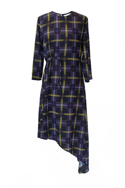 Hide the Label Azalea Dress in Spot Plaid Print