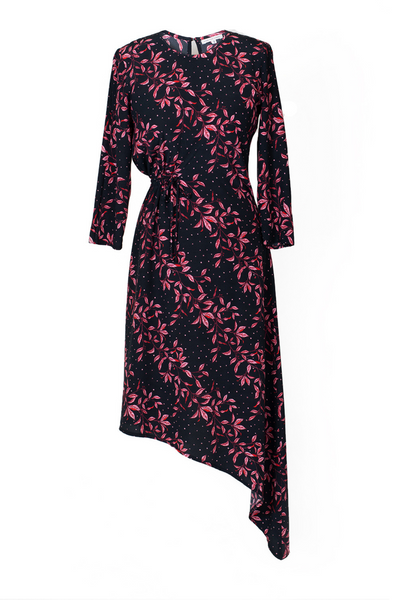 Hide the Label Azalea Dress in Pink Leaf Print