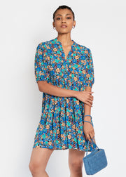 Hide the Label Lilium Short Tiered Dress In Expressive Floral